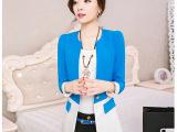 2015秋装韩版女装外套 一粒扣修身女士中长款小西装女 新款小西