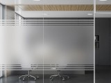 辦公室玻璃隔斷貼膜磨砂膜logo即時貼上門安裝