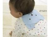 千趣会垫背双层纱布吸汗巾/汗垫巾/垫背巾 婴幼儿必备 两条装