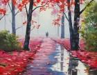 张家港油画培训班 油画颜料油画笔刷是不是贵?