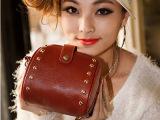 2012新款韩版复古潮包简约时尚百搭款铆钉相机包单肩斜挎包女包包