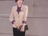 2015秋季新款小西装女 OL修身职业西服外套 高端羊毛西装定制