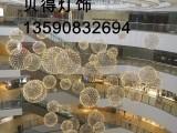 商场中庭装饰节日庆典304不锈钢LED火花球吊灯优质厂家直销