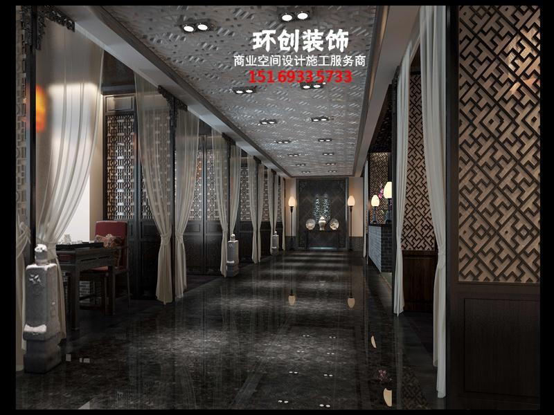淄博张店中式餐厅设计装修效果图,中式餐厅设计策划方案