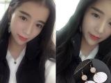 韩版甜美圆圈贝壳珍珠耳环日优雅气质耳钉耳