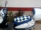 白色豪爵踏板摩托车出售,价格实惠1元