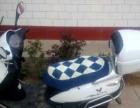 白色豪爵踏板摩托车出售,价格实惠