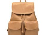 2014新款韩版双袋背包休闲包pu双肩女包学生包批发