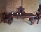 齐齐哈尔老船木实木家具船木中式功夫茶桌茶几茶台批发