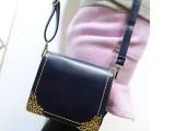新款韩版女包潮流PU复古包犀牛皮时尚休闲包雕花单肩斜跨包批发