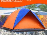 盛源SY-005双层单门3-4人帐篷/户外野营休闲沙滩拼色帐篷