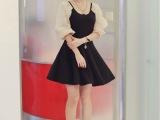 清仓特价 韩版女装 甜美气质圆领修身百搭连衣裙GA1-9621
