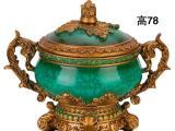 大量供应 手绘陶瓷中式香炉树脂装饰瓶家居