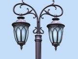 户外欧式铸铝LED双头庭院灯
