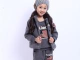 爆款女童棉服 儿童加绒加厚国旗套装 童装三件套棉衣 一件代发