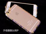 新款苹果6水钻手机壳景泰蓝民族风媚眼金属边框iphone 6水钻