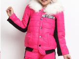 秋冬装新款加厚保暖中大童棉袄儿童棉服女童棉衣棉裤套装一件代发