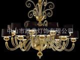 主卧水晶吊灯 欧式主卧布罩吊灯 中山市凯鼎灯饰有限公司灯具