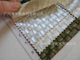 702经典款编织纹正斜纹格子压纹pvc皮革面料手袋零钱包装饰软包