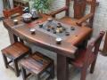 吉林市老船木茶桌椅子仿古茶台实木沙发茶几餐桌办公桌家具博古架