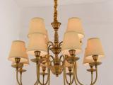 美式现代铜色客厅吊灯 欧式酒店灯饰 简欧卧室书房灯具 现货批发