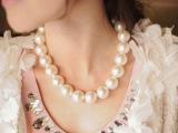 混批代发夸张超大仿珍珠项链女短款锁骨颈链新娘饰品韩版时尚配饰