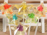 10克长棒五角星糖果、透明糖果、小店KT