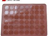 48孔大号马卡龙垫 Macarons专用硅胶烤箱烤盘垫烘焙工具
