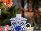 景德镇陶瓷茶杯定制商务会议办公杯手绘青花杯个人老板杯