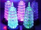 七彩亚克力宝塔小夜灯 发光宝塔led灯 地摊热卖夜市玩具圣诞礼品
