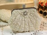 高端贝壳珍珠包晚宴包宴会包礼服包新娘包手拿包包链条包