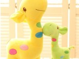 彩色长颈鹿毛绒玩具小鹿公仔玩偶毛绒布娃娃六一儿童生日礼物
