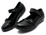 中老年女鞋妈妈鞋软底老人鞋平底舒适单鞋女真皮鞋子平跟中年女鞋