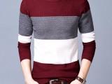厂家直销新款圆领毛衣男春秋薄款韩版修身男士针织打底衫个性线衣