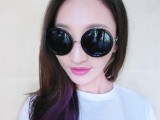 厂家直销韩国vintage墨镜 大圆形眼镜太子镜 日韩可爱圆框太
