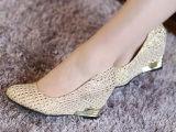 品牌专柜厂家直供 2014新款女鞋子批发一件代发代理女式坡跟单鞋