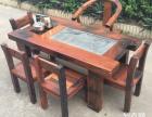 吐鲁番市老船木茶桌椅子仿古茶台实木沙发茶几餐桌办公桌家具案台