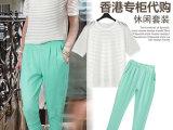 Zara女装专柜正品代购夏装新款短袖针织T恤上衣休闲长裤套装