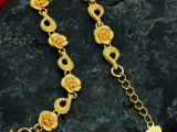 B27 女士精美手链 婚礼首饰品 仿黄金时尚手链 优雅大方 花朵