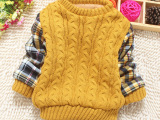 男童毛衣儿童针织衫童装一件代发冬装加厚加绒宝宝毛衣长袖QF08