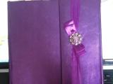 促销工厂直供影楼高档真皮相册--紫玫瑰