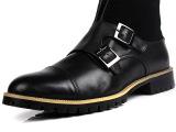 2013新款英伦中筒靴 真皮男靴 高帮皮鞋批发 厚底马丁靴大头男