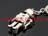 镶钻红心活动机器人钥匙扣 精品钥匙扣 金
