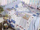 迎鹤婴童家纺 婴儿睡袋 儿童花边睡袋被套枕套 幼儿园防踢被套
