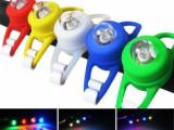 批发 自行车青蛙灯 单眼硅胶灯 单LED爆闪戒指灯 警示尾灯 七彩