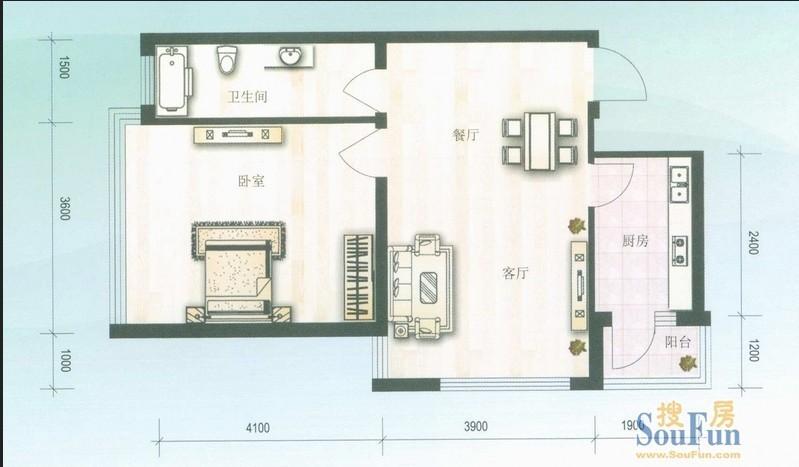 安埠 水木兰亭 1室 1厅 80平米 出售