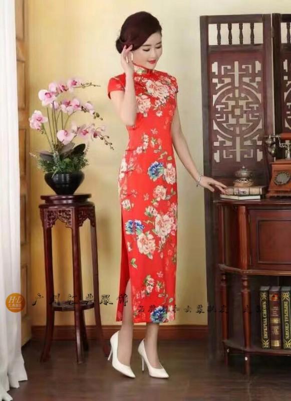 广州汇典(马如龙)复古时尚旗袍折扣批发走份