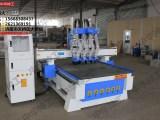 气动换刀自动排版1325四工序雕刻机 买设备送橱柜门板软件