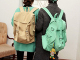 批发供应代发包包正品 2013新款韩版女包 双肩包 帆布背包 质