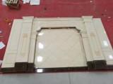 客厅电视墙石材罗马柱影视墙厂家直销